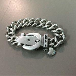 GUESS sterling silver buckle bracelet